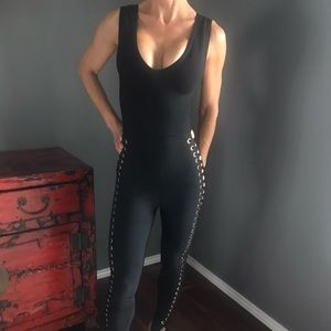 Very Sexy Black lace-up Jumpsuit